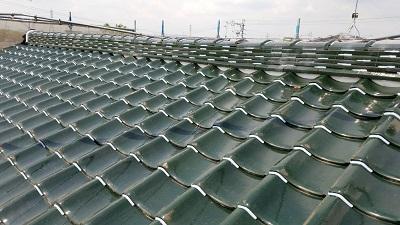 瓦止め後の屋根
