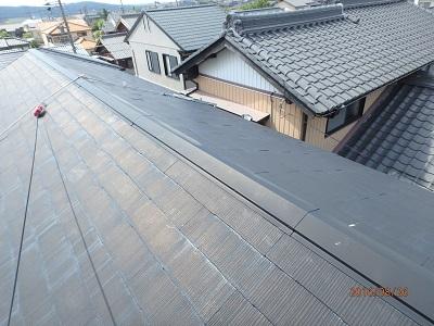 貫板交換工事の施工前写真