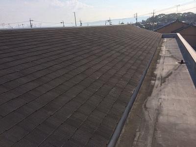 現地調査のカラーベスト屋根