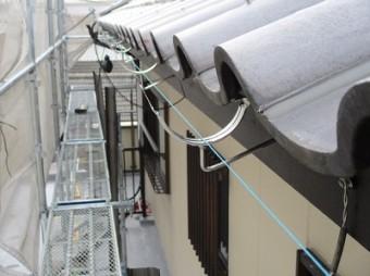 交換工事中の雨樋