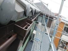 雨樋交換工事完工の様子