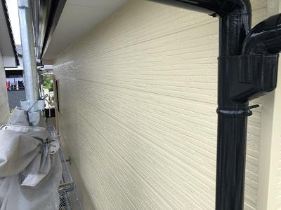 チョーキングが酷いお家の外壁塗装工事完工の様子