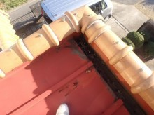 洋屋根に使用されていたトタン部分