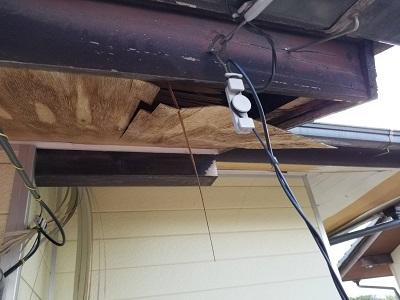 一宮市で軒の天井の補修工事を行いました。