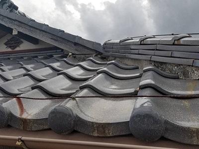 漆喰工事を施工したお宅の施工前の様子