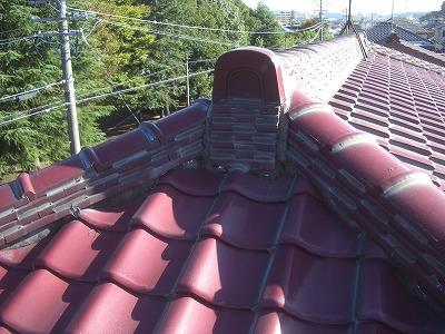 漆喰工事前の屋根
