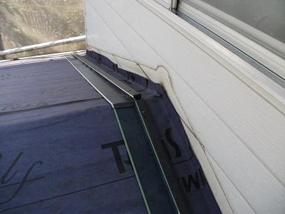 ルーフィングした屋根
