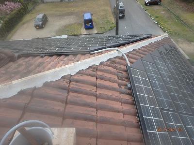 屋根棟組み替え瓦撤去