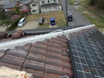 屋根棟組み替えシルガード施工