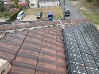 屋根棟組み替え施工後