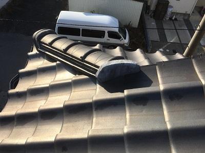 一宮市 屋根 漆喰 施工前