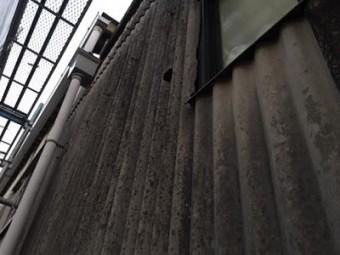 倉庫 外壁 傷み