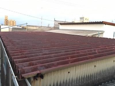 倉庫 屋根 傷み