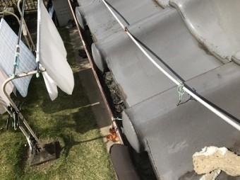 屋根 漆喰 剥がれ落ちている状態