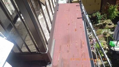 一宮市で錆びてしまった金属屋根の塗装工事を施工しました。