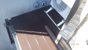 屋根の塗装工事完工の様子