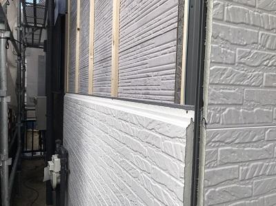 外壁 サイディング 施工中
