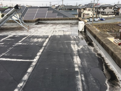 屋上 シート防水 現状