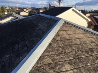 屋根板金部分の修繕工事後の様子