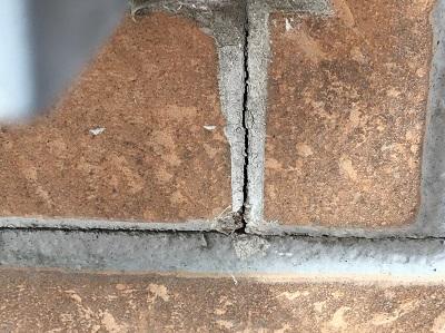 西区 外壁 現地調査 ヒビ