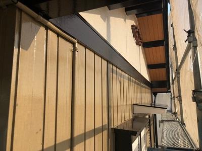 外壁塗装工事の施工後の様子