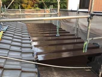 屋根補修工事の施工後の様子