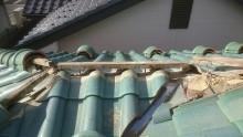 屋根 棟 解体
