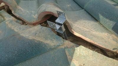 屋根 棟金具 設置