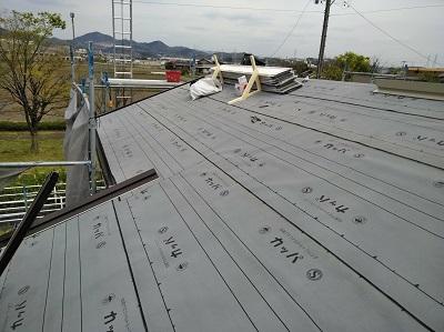 屋根葺き替え 防水シート