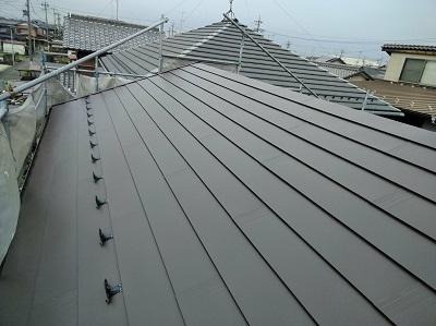 金属屋根に屋根葺き替え後