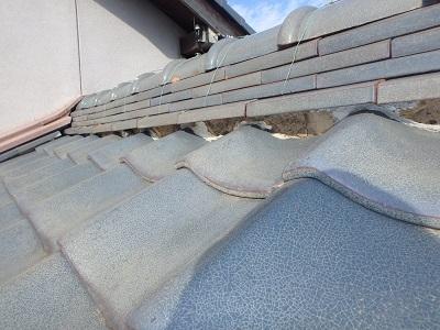 経年劣化により漆喰が剥がれたお宅の施工前の様子