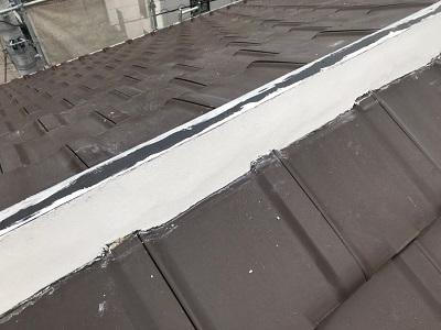 屋根修繕工事の様子