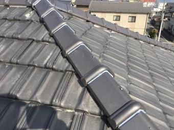 台風被害に遭われたお宅の棟の組み直し工事施工後の様子