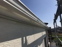 雨樋が錆びて劣化したお宅の雨樋交換工事完工の様子