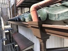 軒樋交換工事完工の様子