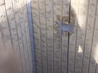 外壁塗装工事シーリング作業完工の様子