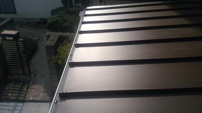 増築部分からの雨漏れの対策工事完工の様子