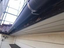 木部と庇の付帯塗装工事施工前の様子