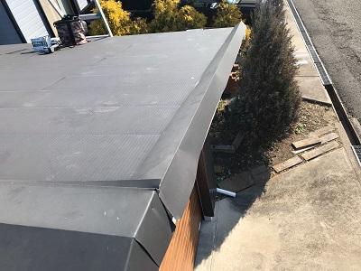 ケラバ水切り板金の補修工事施工前の様子