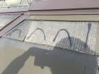 劣化した屋根のカバー工事のボンドの様子