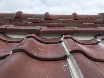 屋根 漆喰 施工後