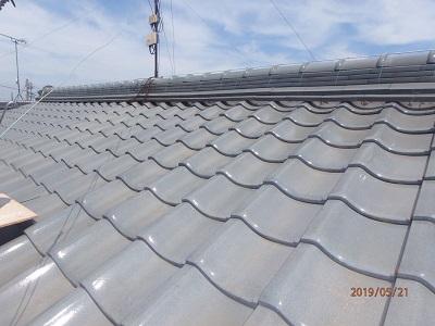 一宮市で、屋根修理と雨樋修理を行いました