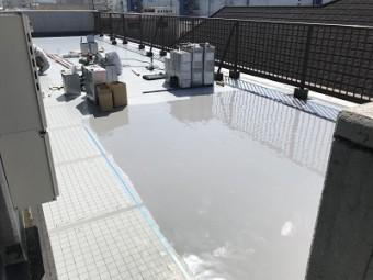 ウレタン樹脂の防水塗膜