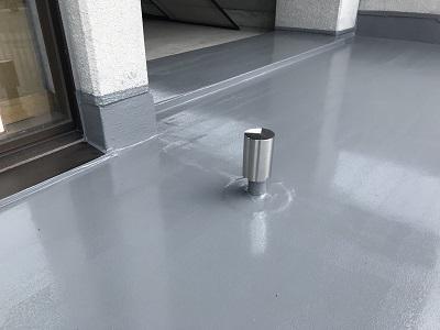 防水 通気緩衝工法 完成