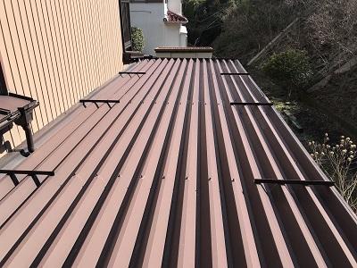 トタン屋根の塗装前