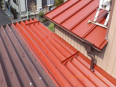 トタン屋根錆び止め塗布