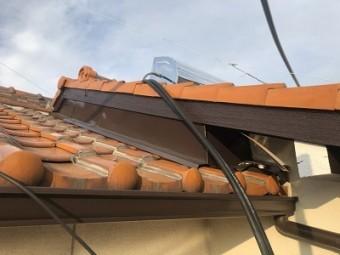 劣化した破風板の塗装工事完工の様子