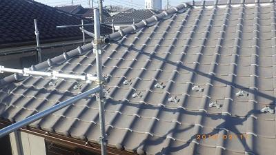 台風被害のあったお宅の南蛮漆喰施工後の様子