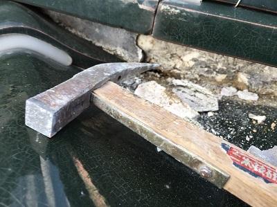 犬山市 屋根工事 漆喰 施工中