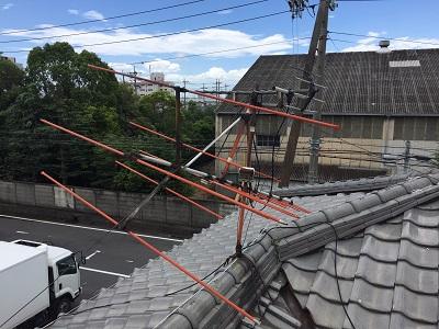 アンテナ 折れた 屋根